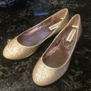 Gold sparkle Steve Madden ballet flats sz 6